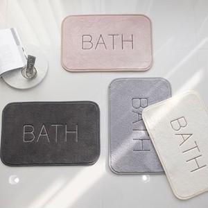 bath embroidery bath mat 4colors / バスマット フットマット ホテルスタイル インテリア 韓国 北欧