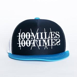 HUNGERKNOCK 100MILES100TIMES CAP(ブルー)