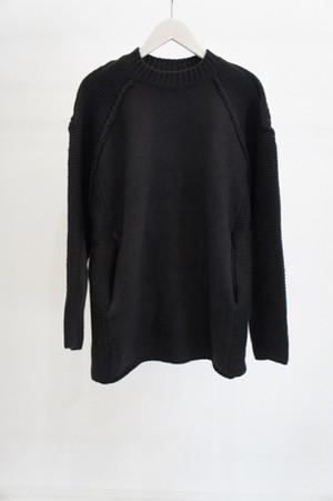 Lambswool Raglan Knit -BLACK- / YOKO SAKAMOTO