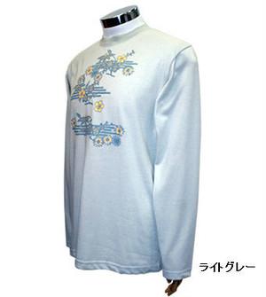 PE-703M秋冬メンズロングスリーブTシャツ(ライトグレー)