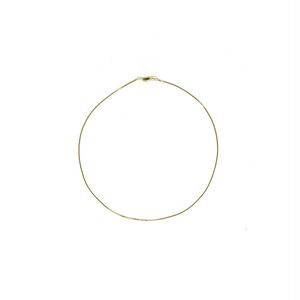 【14K-3-16】16inch 14K real gold chain necklace