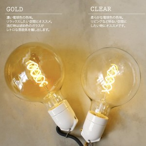 【調光器対応】E26 エジソン バルブ LED スパイラル BIG GLOBE