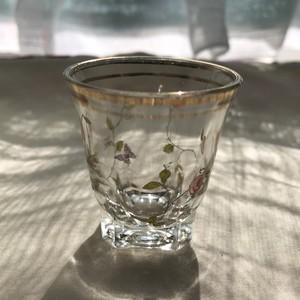 オールドローズ柄② アンティーク金彩ショットグラス