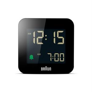 BRAUN (ブラウン) Digital Clock BC08B【ブラック】