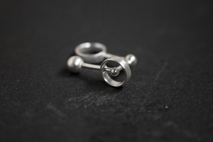 線と円のイヤーカフ (silver)