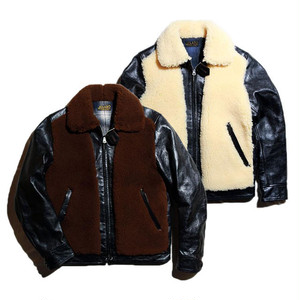 """JELADO """"ANTIQUE GARMENTS"""" 「EARLY AGE COLLECTION」""""Ben Lilly"""" Horse Hide Grizzly JKT (ブラック×ブラウン) (ブラック×バニラ) [AG13412]"""