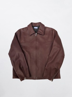 Allege Leather Zip Blouson Brown AL20W-BL02