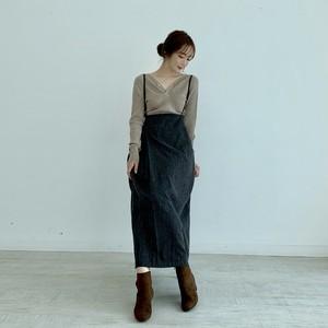 suspender skirt /  charcoal (即納)