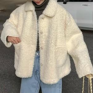 【セット】折り襟無地アウター+ファッションバッグ・財布24892217