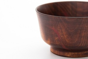 朱漆刷毛目拭き漆小鉢