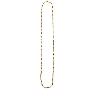 Vintage 18k Gold Rectangle Plate Link Necklace