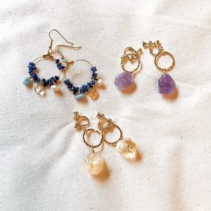 Single teadrop earring