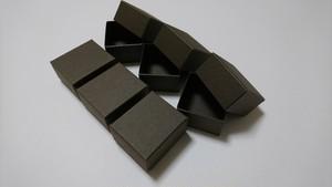 紙箱/超極小なギフトボックス(セピア・濃こげ茶)6個入