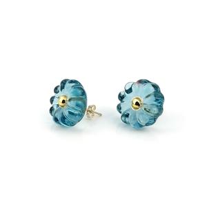 """flower glass_pierce """"beach blue"""""""