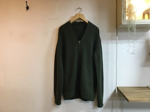 "crepuscule""WHOLE GARMENT V/N ZIP CARDIGAN KHAKI"