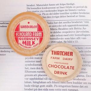 【オンライン限定】Vintage Milk cap badge / GUERNSE MILK×CHOCOLATE DRINK