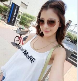 ハート♡型UVミラーサングラス【ブラウン】 urk