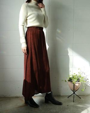 black × red long skirt