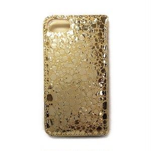 iPhone7 BookType [Water Drop] W-Gold×Beige