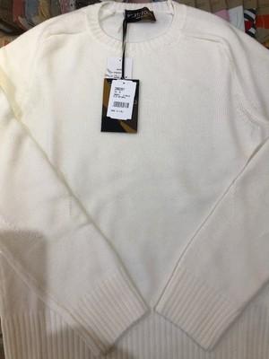 AndreMaurice イタリア製 200207 クールネックセーター 白