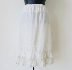 ヴィンテージコットン刺繍入りペチコートスカート:¥8,000+tax