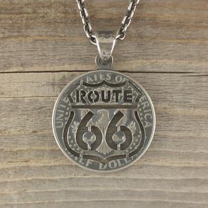 【受注生産】ROUTE66 CUTCOIN PENDANT 50¢【KENNEDY HALF DOLLAR】