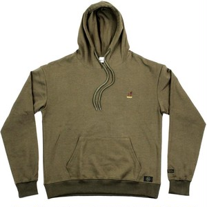SNACK / BUCK EMBROIDERED HOODIE / OLIVE / M