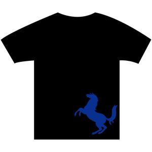 B4° ビヨンド Tシャツ TEE 半袖 半袖Tシャツ 馬 ホース 黒x青 ヘビーウェイト フリースタイル ラップ ラッパー MCバトル 351 S M L XL XXL 2XL XXXL 3XL