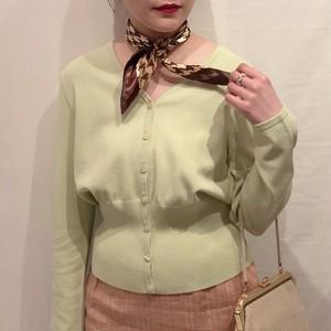 pastel green cardigan