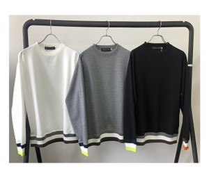 【予約商品:9月22日~入荷予定】Color Block Rib Crew Sweat Shirts