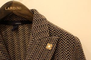 LARDINI Double-breasted Knit Jacket