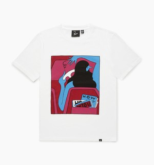 by Parra - how to live now t-shirt (White)