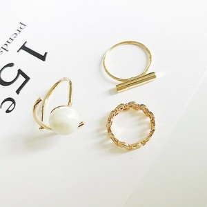 【小物】ファッションシンプル気質アップ指輪リング