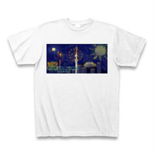 「スカイツリーと富士山を照らす花火」Tシャツ