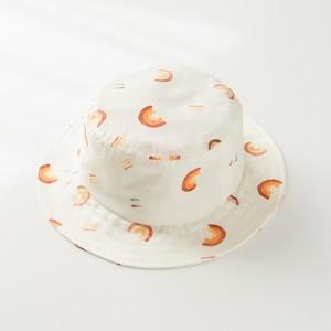 虹(レインボー)/洗える夏の日よけ帽子