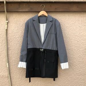 ドッキングテーラードジャケット カラー: Gray