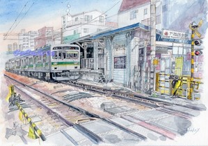 駅と電車②