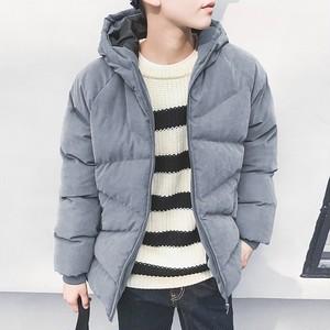 【メンズ】使いやすい防寒防水メンズ無地フート付き韓国系ファッションショートダウンコート25485857