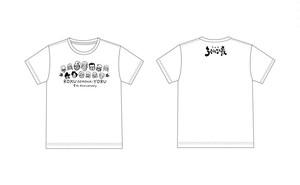 ろく夜5周年Tシャツ【全員集合!】ボディ白 プリント黒