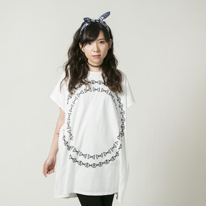 Circle logo Dolman T-shirt White