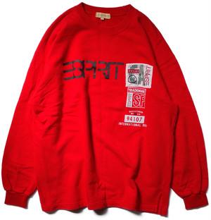 【L】 90s エスプリ スウェット ESPRIT ヴィンテージ 古着