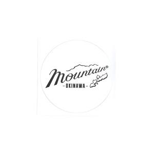Mountain オリジナルロゴ ステッカー / ホワイト