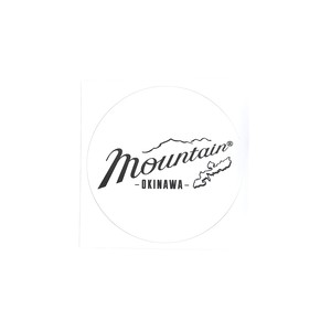 Mountain オリジナルロゴ サークルステッカー / ホワイト