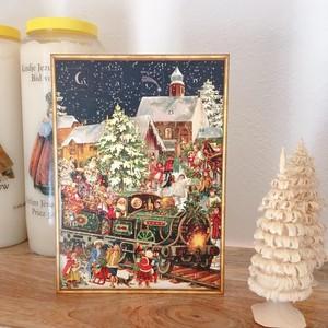 アドベントカード Richard Sellmer Verlag社 クリスマスカード santa in loco ドイツ製 ポストカード 封筒付 リチャード・セルマー CD-005