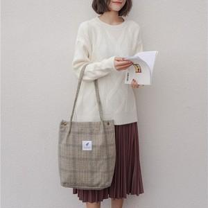 Handbag Shoulder Bag Tote Bag Casual Shopping Bag コットン カジュアル ショルダーバッグ トートバッグ ハンドバッグ (HMS99-2404505)