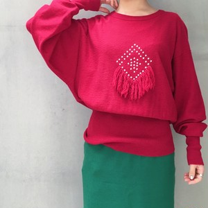 SONIA RYKIEL Dolman sleeve red Knit
