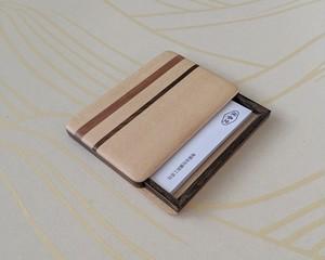 【ギフト用におすすめ】 木製 寄木 名刺入れ/カードケース【B】 【送料無料】