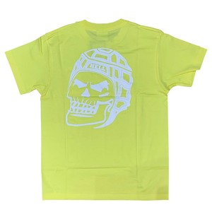 RUGBY SKULL Back Print T-Shirt Yellow