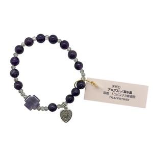 アメジスト 天然石ロザリオブレスレット_d/函館トラピスチヌ修道院 天使園