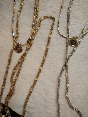 FUMIE = TANAKA / beads W necklace ( SILVER / GOLD )